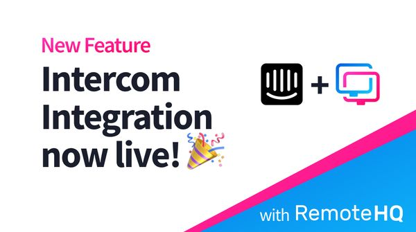 Intercom Integration is live! 🎉